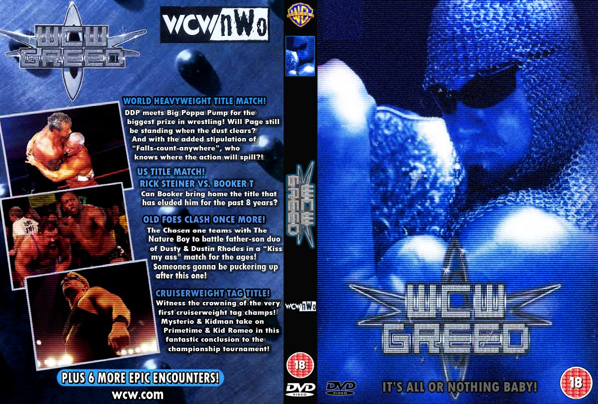 WCW Greed 2001 - Cover