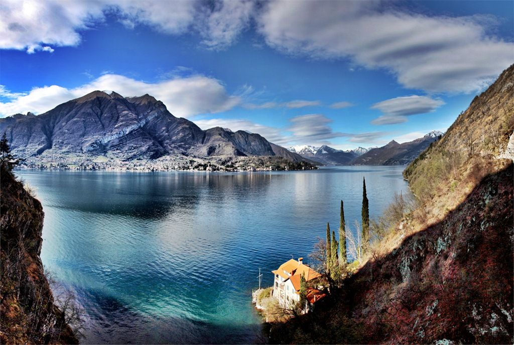 Stitched Panorama Top 10 Celebrity Vacation Spots Top 10 Celebrity Vacation Spots lake como bellagio