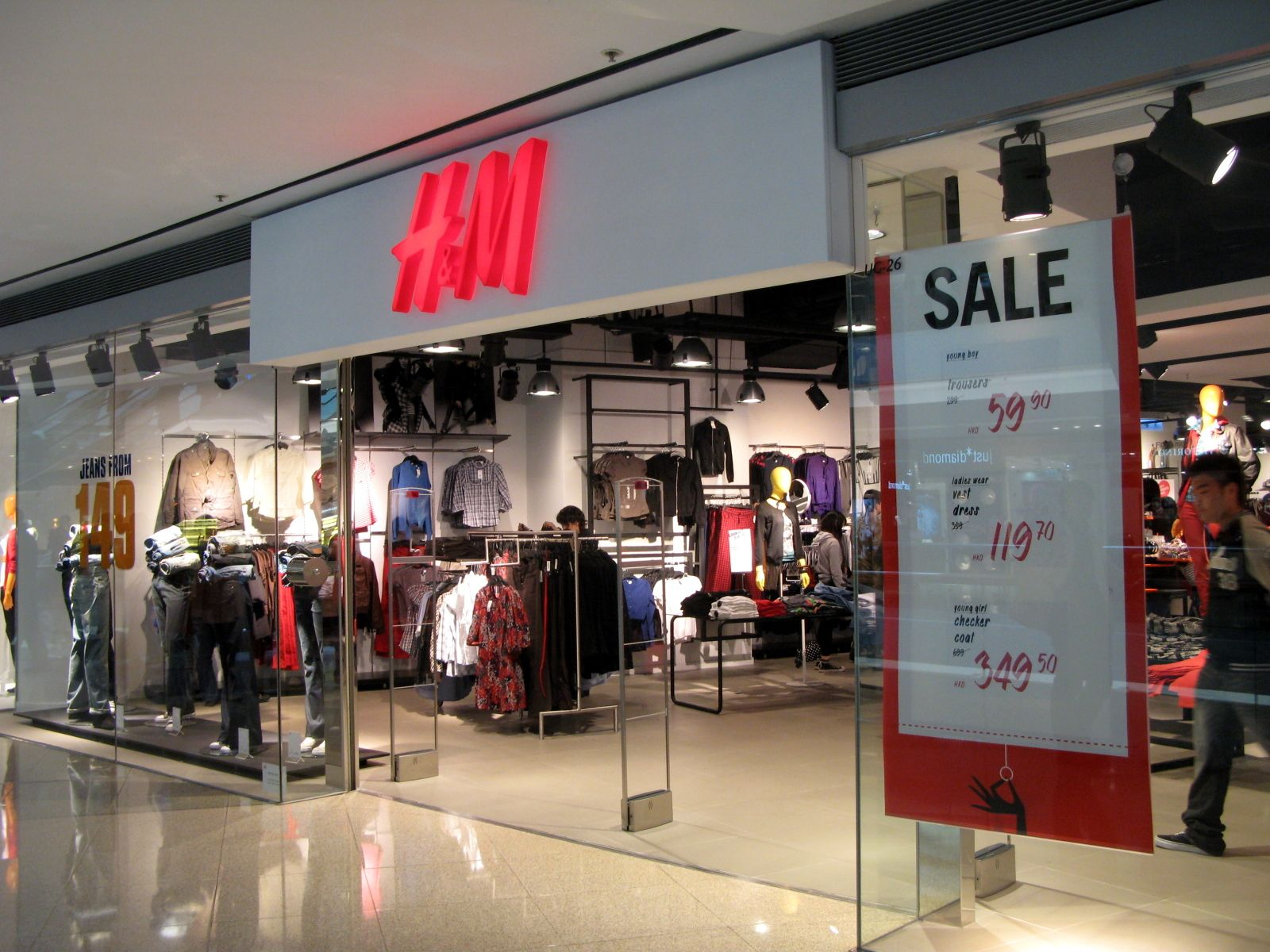 H and m clothing store