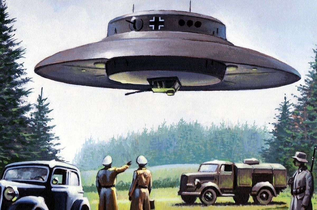 1. UFOs Are Anti-Gravity Vehicles Built By The Nazis