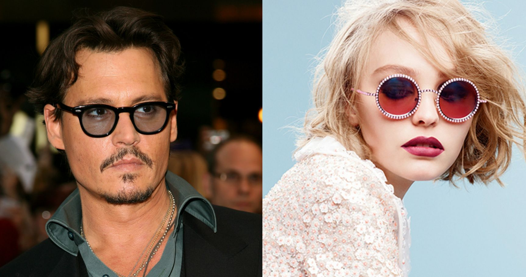 """Johnny Depp """"Worried"""" About Daughter Lily-Rose's Modeling Career"""