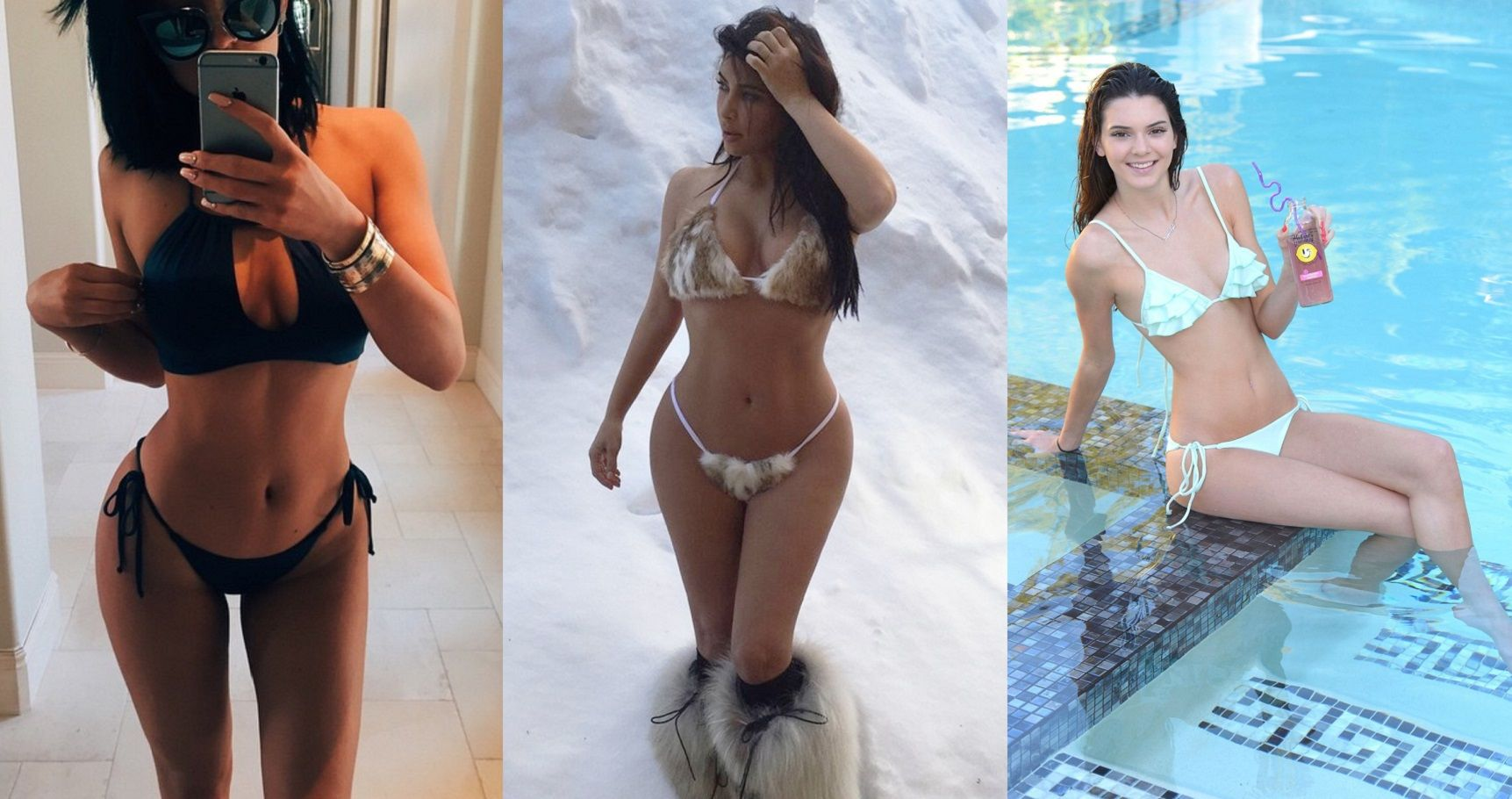 Top 18 Hottest Kardashian/Jenner Bikini Pictures