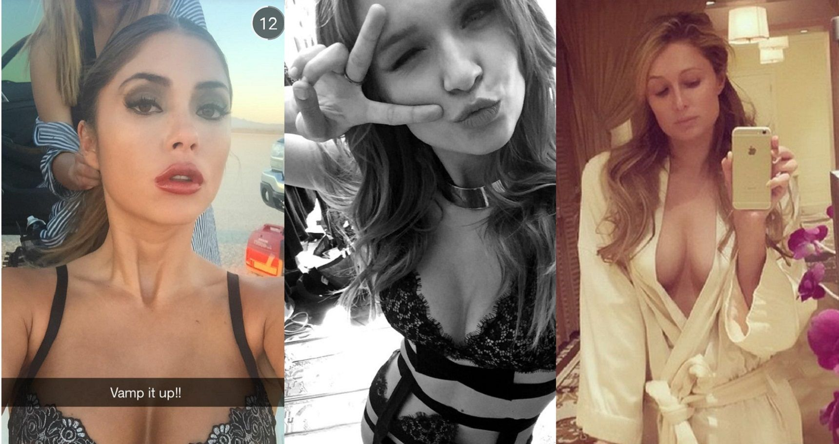 Top 15 Hottest Celebrity Posts On Snapchat