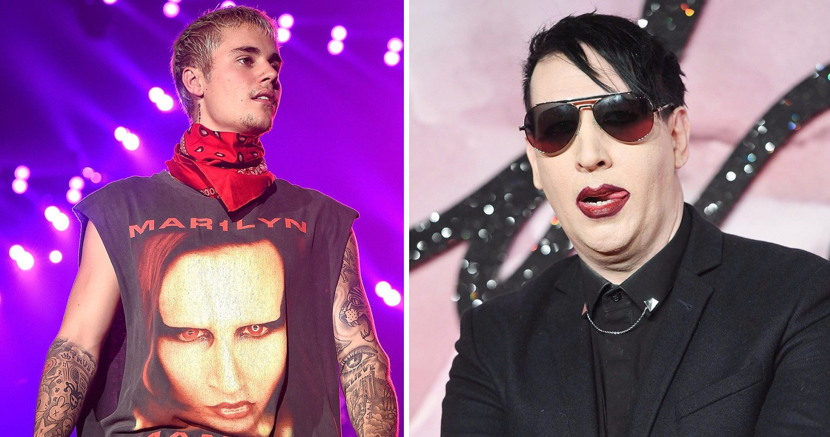 "Justin Bieber Says ""Sorry"" To Marilyn Manson 