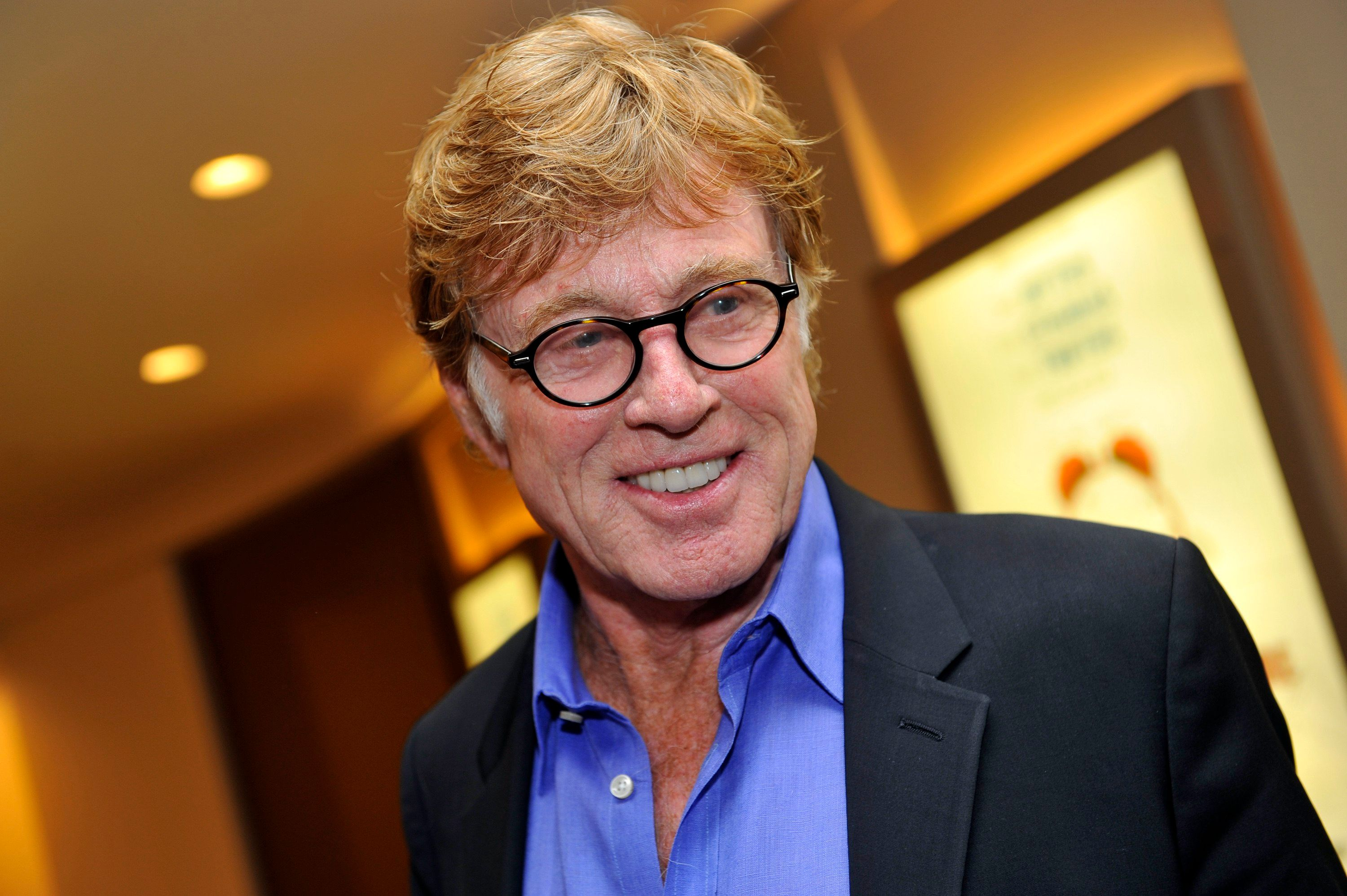 Actor Robert Redford arrives for the premiere screening of HBO's The Big Picture : Rethinking Dyslexia in New York City