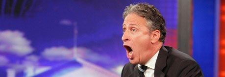 Jon Stewart takes a break from the Daily show