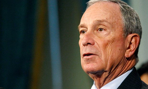 Michael Bloomberg speaks at news conference on Friday